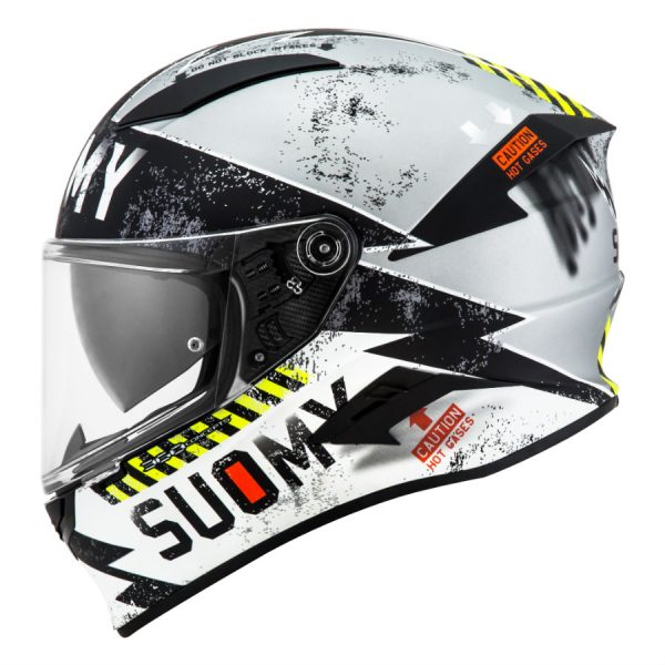 Cascos Suomy Speedstar Propeller Matt Silver Black