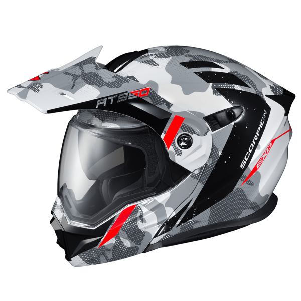 Casco Scorpion EXO-AT950 OUTRIGGER White/left