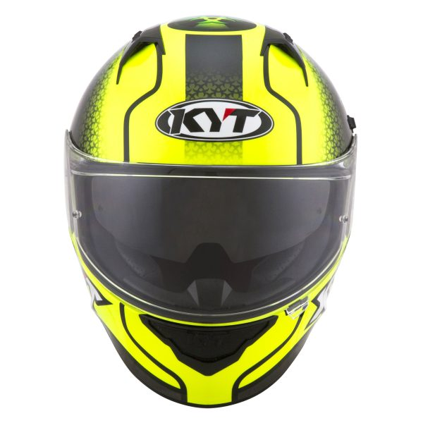 Casco KYT NF-R  Hyper Fluo Yellow