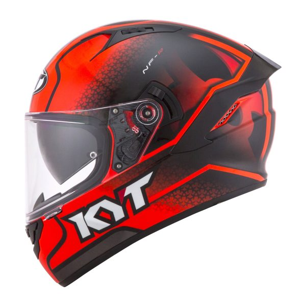 Casco KYT NF-R  Hyper Fluo Red