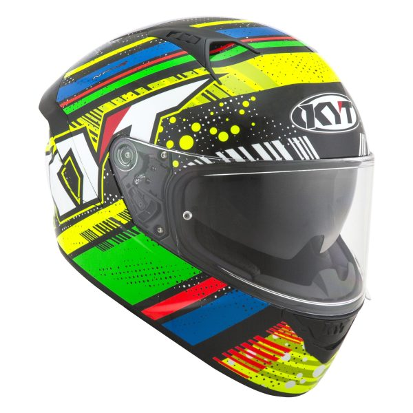 Casco KYT NF-R  Energy Green/Blue
