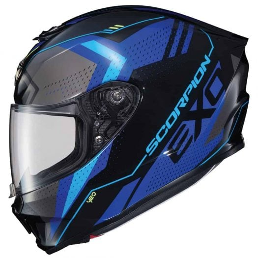 Casco Scorpion EXO-R420 SEISMIC Blue