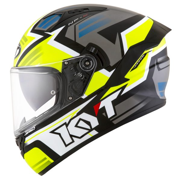 Casco KYT NF-R  Artwork Yellow/Grey