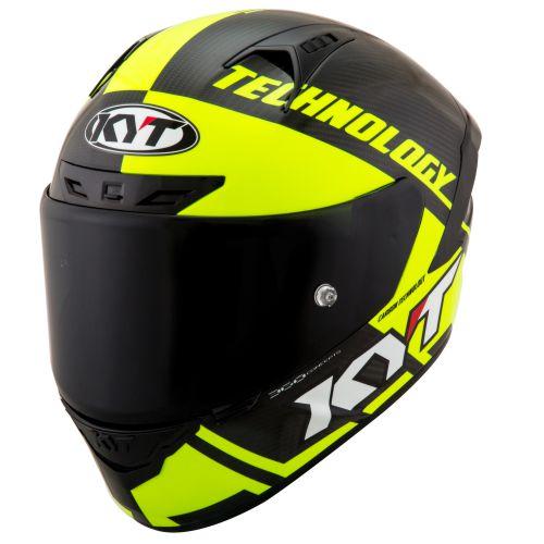 Casco KYT NX-Race Carbon Race-D Yellow Fluo