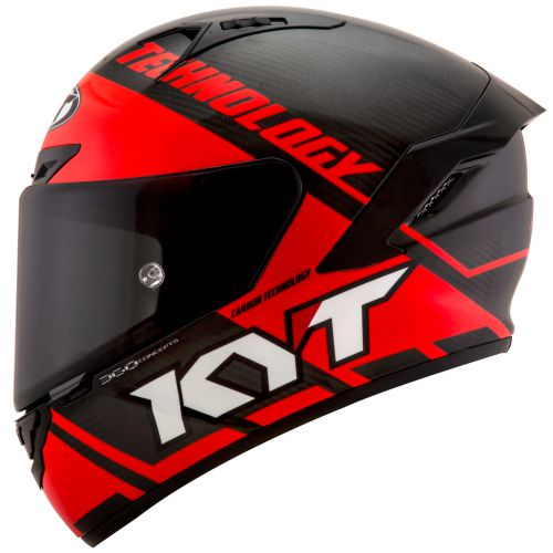 Casco KYT NX-Race Carbon Race-D Red Fluo