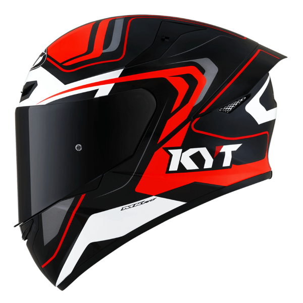 Casco KYT TT- COURSE Overtech Black/Orange