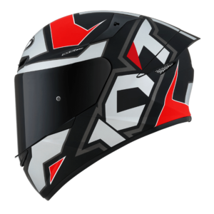 Casco KYT TT- COURSE Electron Matt Grey/Red