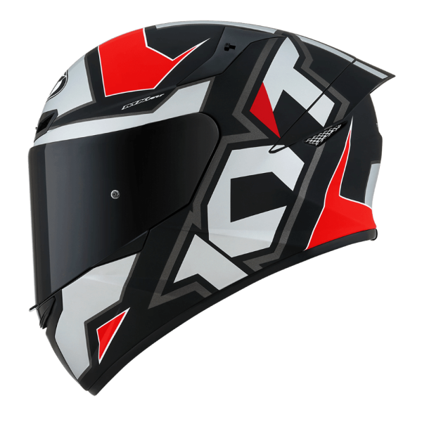 Casco KYT TT- COURSE Electron Matt Grey/Red