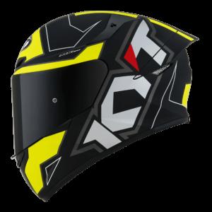 Casco KYT TT- COURSE Electron Matt Black/Yellow
