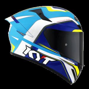 Casco KYT TT- COURSE Grand Prix White/Light Blue