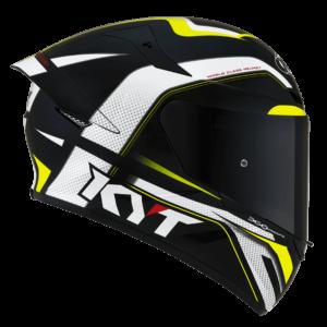 Casco KYT TT- COURSE Grand Prix Black/Yellow