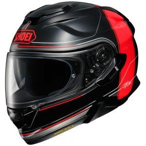 Casco SHOEI GT AIR II CROOSBAR. Black/Red Gloss.