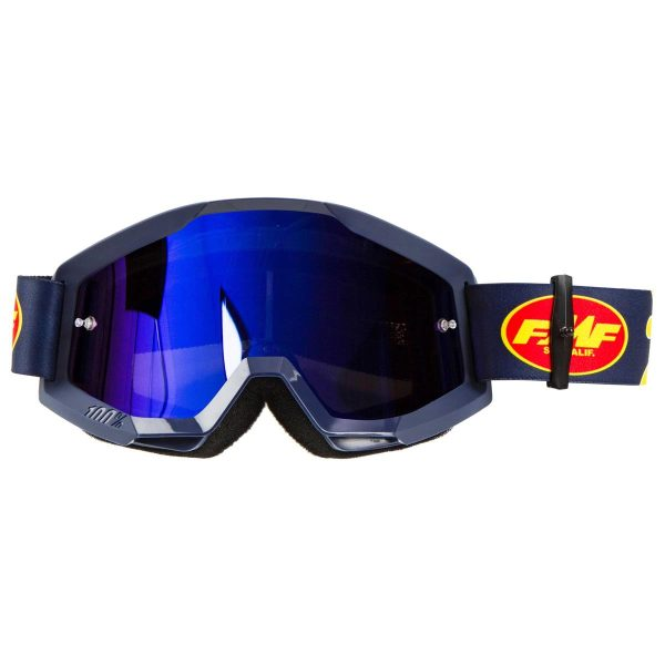 Goggles FMF POWERCORE MX. Flame Navy-Mirror Blue.