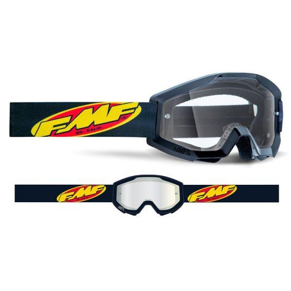 Goggles FMF POWERCORE MX. Core Black – Clear Lens.